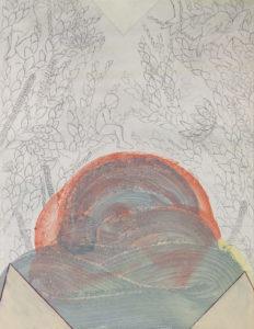 1- Elisa Bertaglia, Brutal Imagination, 27,9x21,5 cm, olio, carboncino, grafite e pastelli su carta, 2016.