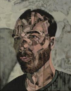 23 selfportrait 2014, 2014 acrylic on canvas 45x35 cm