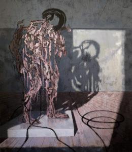 9 the sculptor 2013 acrylic on canvas 225x197 cm